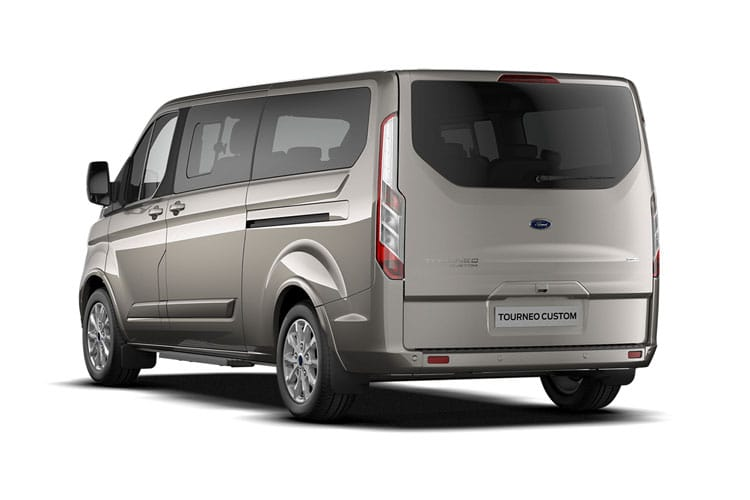 Ford Tourneo Custom 320 L1 M1 2.0 EcoBlue FWD 130PS Titanium Minibus Auto [Start Stop] [8Seat] back view