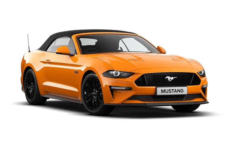 Ford Mustang Convertible 5.0 V8 450PS GT 2Dr SelShift [Custom Pack 3] front view